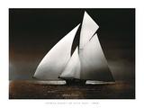 Iverna Yacht at Full Sail  1895