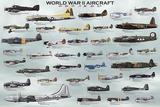 Avions de la Seconde Guerre mondiale Reproduction d'art par Unknown