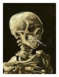Skull with Burning Cigarette
