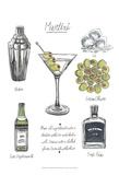 Classic Cocktail - Martini Reproduction d'art par Naomi McCavitt