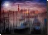 City Art Venice Gondolas At Sunset