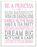 Be a Princess Pink Typography