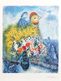 Le coq avec le bouquet jaune