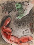 """God rebukes Eve from """"Drawings for the Bible"""""""