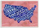 Pledge of Allegiance Typography with Chevron