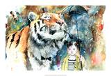 Monsieur Tigre Reproduction d'art par Lora Zombie