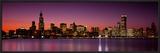 Dusk  Skyline  Chicago  Illinois  USA