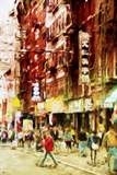 Chinatown NYC - In the Style of Oil Painting