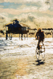 Cyclist - In the Style of Oil Painting