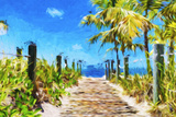 Path to the Beach - In the Style of Oil Painting