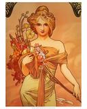 Spring, 1896 Reproduction d'art par Alphonse Mucha