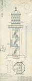 Lighthouse Plans I Reproduction d'art par The Vintage Collection