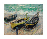 Three Fishing Boats  1886