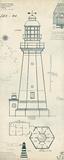 Lighthouse Plans IV Reproduction d'art par The Vintage Collection