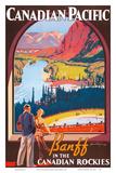 Banff in the Canadian Rockies - Lake Louise, Banff National Park - Canadian Pacific Railway Company Reproduction d'art par James Crockart