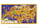 Around the World Map - Chocolat Menier - French Chocolate Company