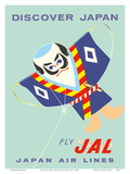 Discover Japan - Fly Japan Air Lines (JAL) - Japanese Samurai Kite