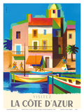 Visitez (Visit) La Cote D'Azur - France - French Riviera
