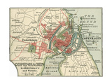 Map of Copenhagen (C 1900)  Maps
