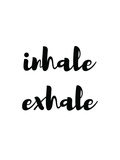 Inhale Exhale Reproduction d'art par Pop Monica