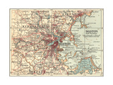 Map of Boston (C 1900)  Maps