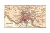 Map of Cincinnati  Ohio (C 1900)  Maps
