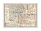 Map of Oklahoma and Indian Territory United States