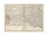 Plate 100 Map of South Dakota United States