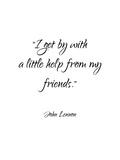 John Lennon-Friends Reproduction d'art par Pop Monica