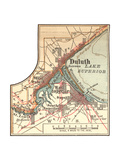 Inset Map of Duluth  Minnesota  1902 Atlas