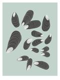 Mussels Reproduction d'art par Jorey Hurley
