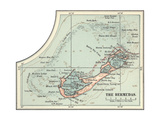 Inset Map of the Bermudas Caribbean Islands