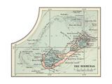 Inset Map of the Bermudas Caribbean Islands
