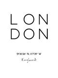 Londres Reproduction d'art par Pop Monica