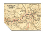 Map of Yosemite Valley (C 1900)  Maps