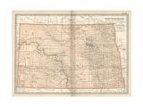 Plate 99 Map of North Dakota United States