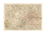 Plate 10 Map of London and Vicinity England