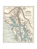 Plate 116 Inset Map of Sitka