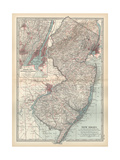 Plate 72 Map of New Jersey United States Inset Map of Jersey City