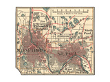 Inset Map of Minneapolis and St Paul  Minnesota