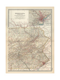Map of Pennsylvania  Eastern Part United States Inset Map of Philadelphia and Vicinity