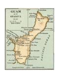 Inset Map of Guam or Guajan Island (Us)