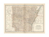 Plate 86 Map of Arkansas United States