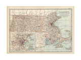 Map of Massachusetts  United States Inset of Boston and Vicinity