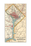 Map of Washington DC (C 1900)  Maps