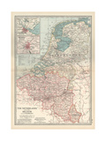 Plate 21 Map of the Netherlands (Holland)