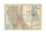 Map of California  Northern Part United States Inset Maps of San Francisco and Yosemite Valley