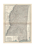 Plate 85 Map of Mississippi United States