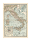 Map of Italy Insets of Rome (Roma) and Vicinity  and Venice (Venezia) and Vicinity