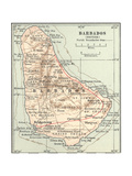 Plate 118 Inset Map of Barbados (British)